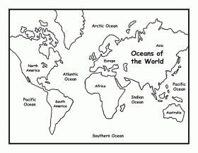 World Map Coloring Pages For Kids 5 | Free Printable Coloring Pages