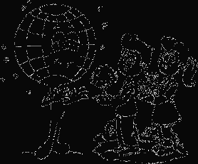 boy and girl give plants to earth coloring page com