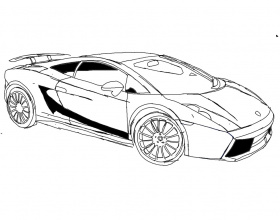 coloring pages of lamborghini