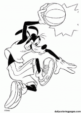 Mickey Mouse & Friends Basketball Coloring Pages