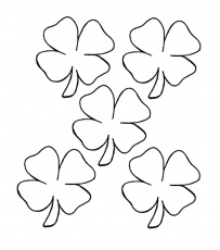 four leaf clover coloring pictures