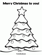 Christmas Tree Coloring Pages - Picture 18 – Christmas Tree