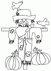 Thanksgiving Scarecrow Coloring Pages Printables - Picture 2