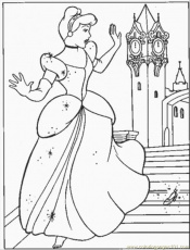 cinderella shoe Colouring Pages