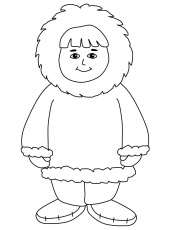 Christmas cards for kids to color az coloring pages for Eskimo coloring page