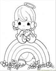 Coloring Pages Moments Rainbow Coloring Page (Cartoons > Precious