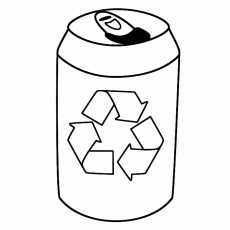 Drink Tin with symbol - Coloring Page (Earth Day)