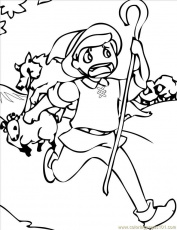 the boy who cried wolf coloring pages