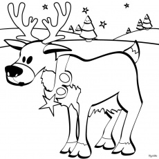 SANTA'S REINDEER coloring pages - Christmas reindeer