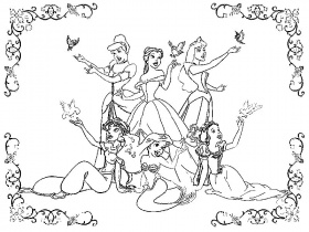 disney princess printable coloring pages
