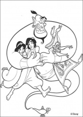 aladin coloring pages