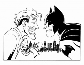 batman joker Colouring Pages (page 3)