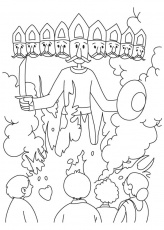 Dushera coloring pages for adults
