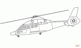 Eurocopter EC155 Rescue Helicopter coloring page | Free Printable ...