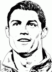 SOCCER PLAYERS Coloring Pages Christiano Ronaldo Playing Soccer
