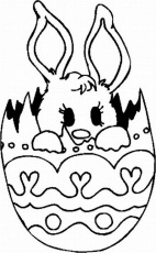 Baby Bunny Coloring Page - Coloring Pages for Kids and for Adults