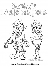 Little Helpers Coloring Pages Christmas | Coloring pages for ...