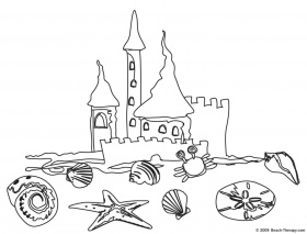 free summer at the beach coloring page ...