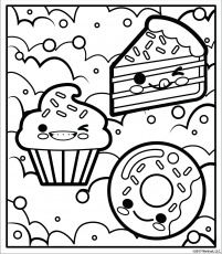 Free printable coloring page | Candy coloring pages, Cute coloring ...