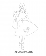 Poodle Skirt Coloring Page