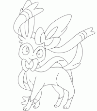 Sylveon Coloring Page Free Printable Coloring Pages Coloring Home