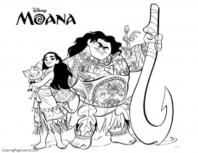 Coloring pages ideas : Moana Coloring Page Central Sheets Photo ...