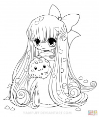 Chibi Cookie Girl coloring page | Free Printable Coloring Pages