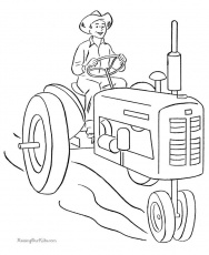 farming coloring page
