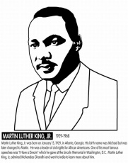 Martin Luther King Coloring Pages And Activities - Coloring Page