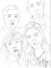 free printable icarly coloring page - Icarly Coloring Pages To Print