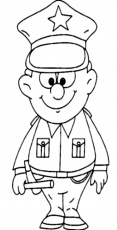 Great Policeman in Professions Coloring Pages | Batch Coloring