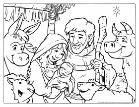 Nativity Coloring Pages Free Printable Nativity Coloring Pages ...