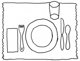 Table Manners Coloring Pages - Colorine.net | #17928