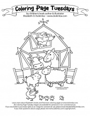 dulemba: Coloring Page Tuesday! - On the Farm