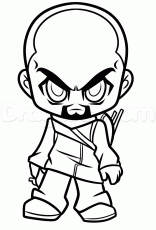 Draw Chibi Morgan from The Walking Dead, Step by Step, Drawing ...