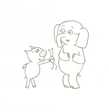 Elephant And Piggie - Coloring Pages for Kids and for Adults