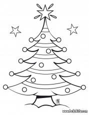 CHRISTMAS TREE coloring pages - Decorated Christmas tree