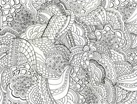 Printable Zentangle - Coloring Pages for Kids and for Adults