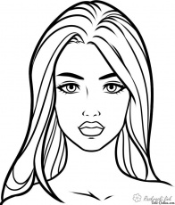 Colorize the face Free Coloring pages online print.