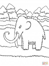 Cute Baby Mammoth coloring page | Free Printable Coloring Pages