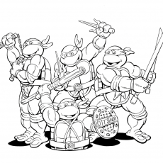 Printable Ninja Turtles - Coloring Pages for Kids and for Adults