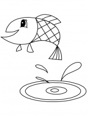 jumping fish coloring pages