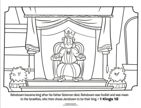 Rehoboam - Bible Coloring Pages | What's in the Bible?