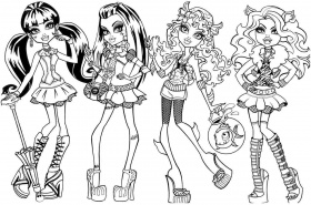 Monster High Coloring Pages Online - Coloring Pages
