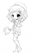 Free Printable Chibi Coloring Pages For Kids | Chibi coloring ...