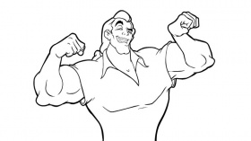 Gaston coloring pages