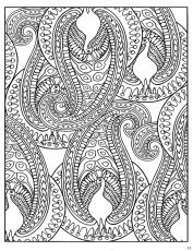 paisley design coloring pages