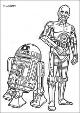 STAR WARS coloring pages - R2-D2 and C-3PO