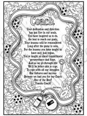 Coach Poem Coloring Page | Etsy
