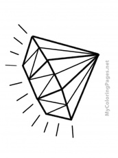 Diamond Printable Coloring Page